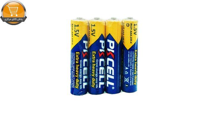 باتری نیم قلمی پی کی سل مدل 4R03 بسته 4 عددی | پخش کالای مرکزی