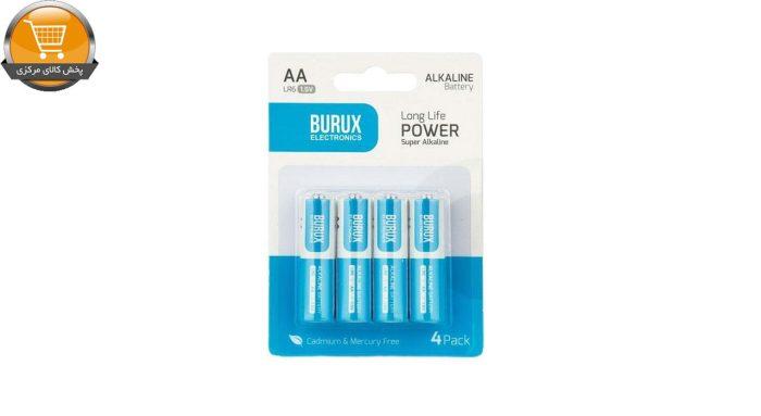 باتری قلمی بروکس مدل آلکالاین AA بسته 4 عددی | پخش کالای مرکزی