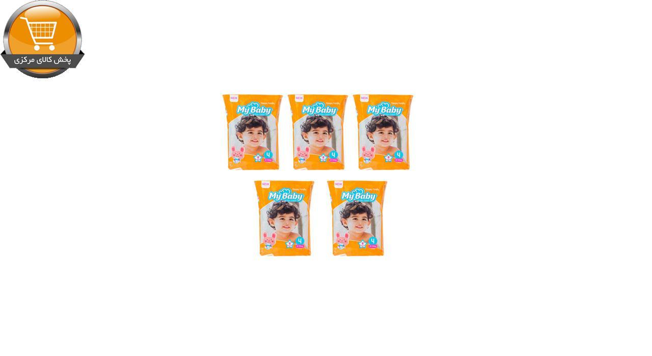 پوشک کودک مای بیبی مدل خانواده شاد سایز 4 بسته 8 عددی مجموعه 5 عددی | پخش کالای مرکزی