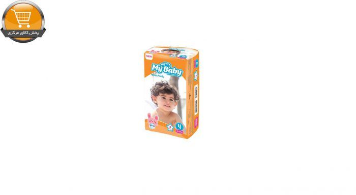 پوشک بچه مای بیبی کد 01 سایز 4 بسته 8 عددی | پخش کالای مرکزی