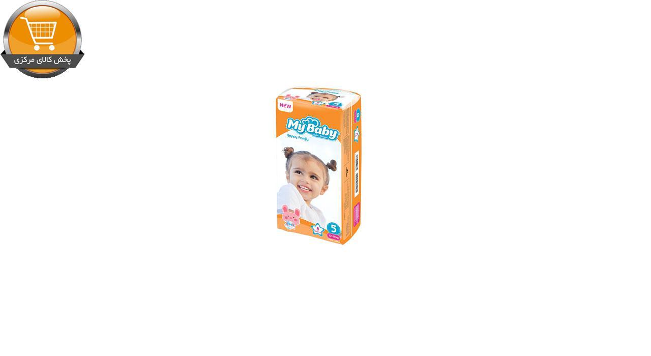 پوشک بچه مای بیبی کد 01 سایز 5 بسته 8 عددی | پخش کالای مرکزی