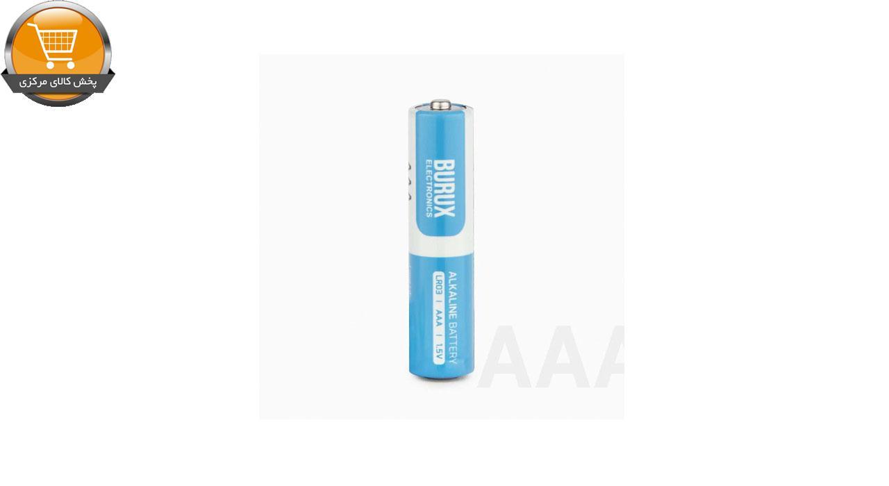 باتری نیم قلمی بروکس مدل آلکالاین AAA بسته 4 عددی | پخش کالای مرکزی