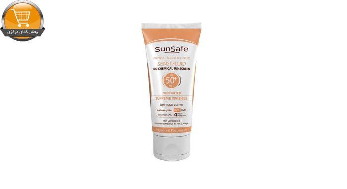 کرم ضد آفتاب سان سیف مدل سنسی فلوئید +SPF 50 حجم 50 میلی لیتر | پخش کالای مرکزی
