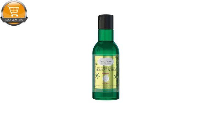 محلول پاک کننده آرایش صورت دیپ سنس مدل tea tree & bamboo حجم 160 میلی لیتر | پخش کالای مرکزی
