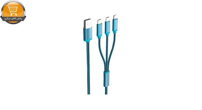 کابل تبدیل USB به microUSB/لایتنینگ الدینیو مدل LC85 3 In 1 طول 1.2 متر | پخش کالای مرکزی