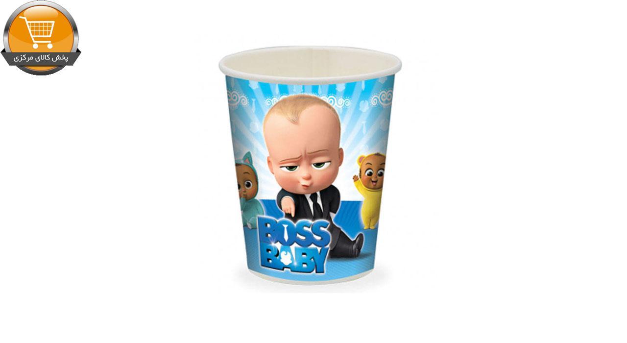 بشقاب و لیوان یکبار مصرف مدل بچه رییس مجموعه 24 عددی | پخش کالای مرکزی
