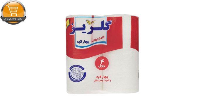 دستمال توالت گلریز مدل سفید بسته 4 عددی | پخش کالای مرکزی