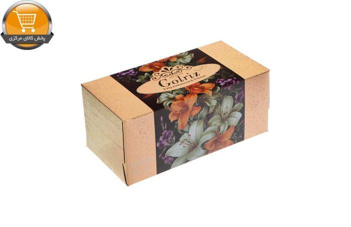 دستمال کاغذی 100 برگ گلریز گلدار طرح طلايي و نقره اي | فروشگاه پخش کالای مرکزی