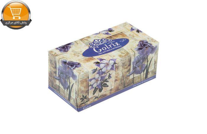 دستمال کاغذی 100 برگ گلریز گلدار طرح زنبق| فروشگاه پخش کالای مرکزی