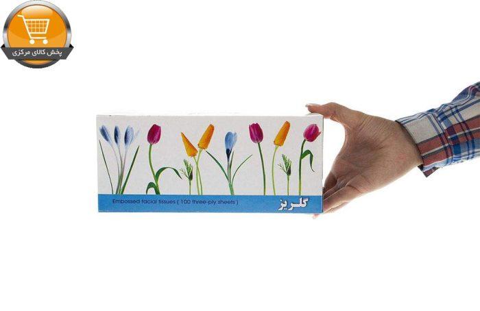 دستمال کاغذی 100 برگ گلریز گلدار طرح لاله | فروشگاه پخش کالای مرکزی