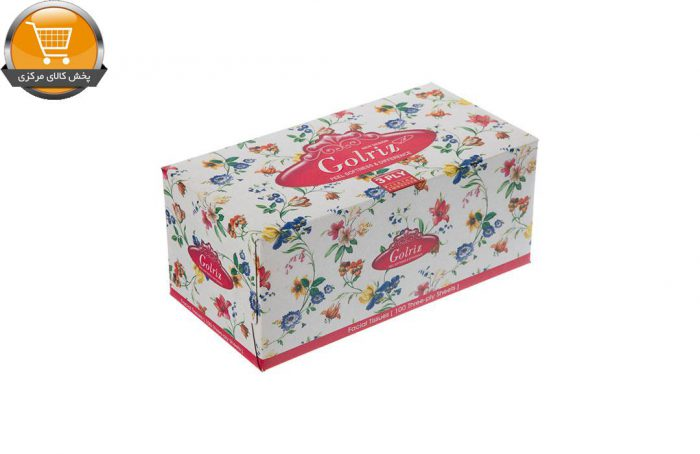 دستمال کاغذی 100 برگ گلریز گلدار طرح مریم | فروشگاه پخش کالای مرکزی