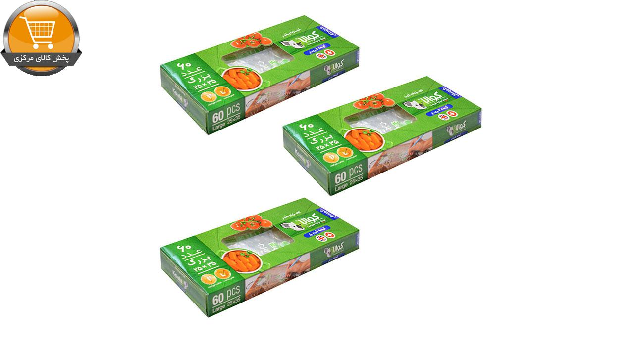کیسه خرید کوالا مدل کریستال شش بسته 60 عددی   فروشگاه پخش کالای مرکزی