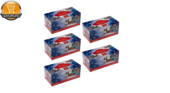 دستمال کاغذی 100 برگ گلریز مدل گلدار طرح بابانوئل بسته 5 عددی   فروشگاه پخش کالای مرکزی