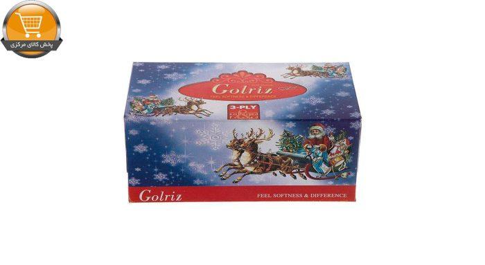 دستمال کاغذی 100 برگ گلریز مدل بابانوئل بسته 12 عددی | فروشگاه پخش کالای مرکزی
