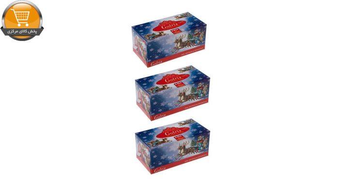 دستمال کاغذی 100 برگ گلریز مدل بابانوئل بسته 3 عددی | فروشگاه پخش کالای مرکزی