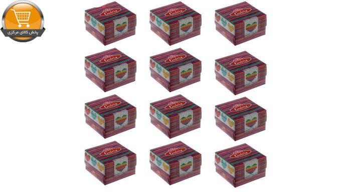 دستمال کاغذی 50 برگ گلریز مدل بافتینه بسته 12 عددی   فروشگاه پخش کالای مرکزی