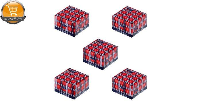 دستمال کاغذی 50 برگ گلریز مدل اسکات قرمز بسته 5 عددی   فروشگاه پخش کالای مرکزی