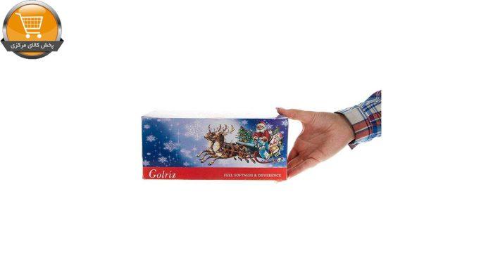 دستمال کاغذی 100 برگ گلریز مدل بابانوئل بسته 24 عددی   فروشگاه پخش کالای مرکزی