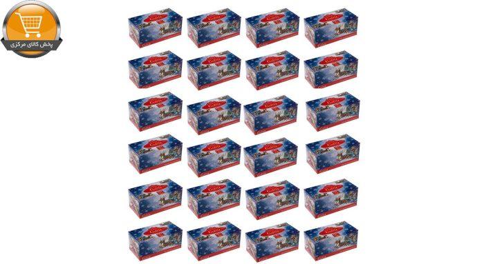 دستمال کاغذی 100 برگ گلریز مدل بابانوئل بسته 24 عددی | فروشگاه پخش کالای مرکزی