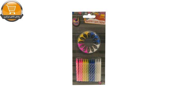 شمع تولد هپی کندل مدل رنگارنگ بسته 24 عددی | پخش کالای مرکزی