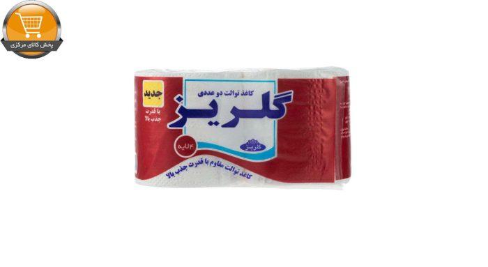 دستمال توالت گلریز مدل رولی 2 بسته 2 عددی | پخش کالای مرکزی
