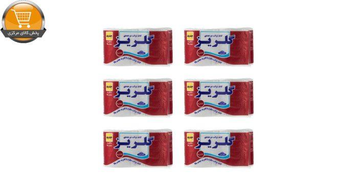 دستمال توالت گلریز مدل رولی مجموعه 6 عددی | پخش کالای مرکزی